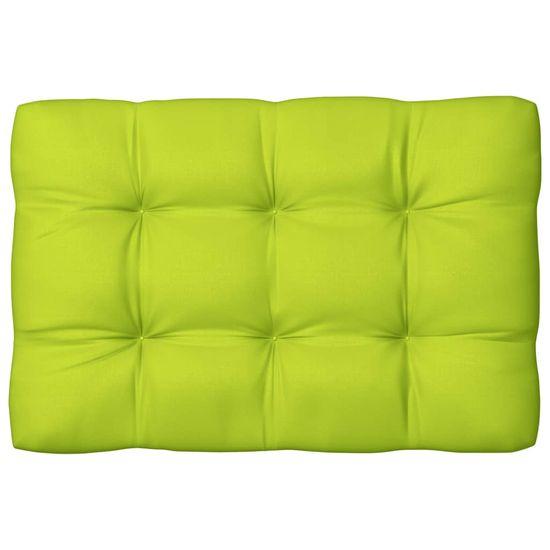 shumee blazina za palete Svetlo zelena 120x80x12 cm Tkanina