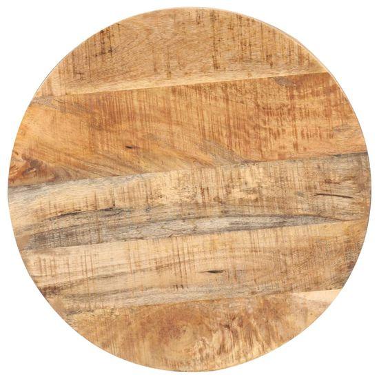 shumee Stolik barowy, okrągły, 50x110 cm, surowe drewno mango