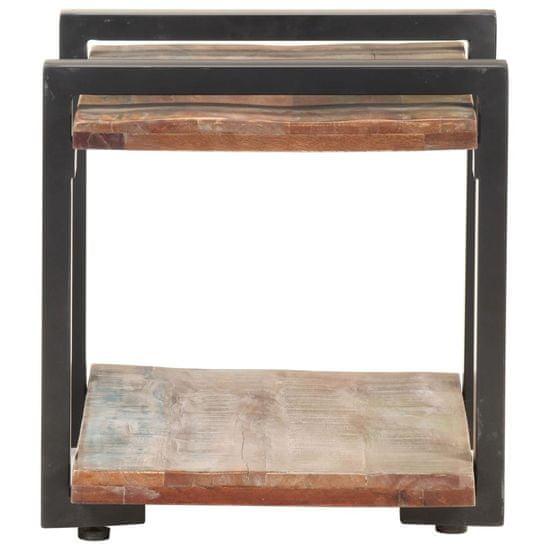 shumee nočna omarica 50x40x40 cm iz masivnega predelanega lesa
