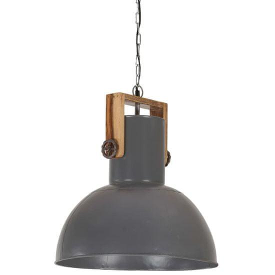 shumee Industrialna lampa wisząca, 25 W, szara, okrągła, 42 cm, E27