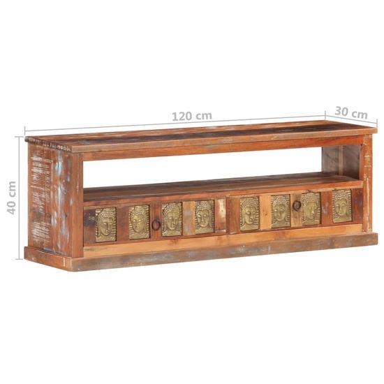 shumee omara za televizijo s Budo sliko 120x30x40 cm predelani les