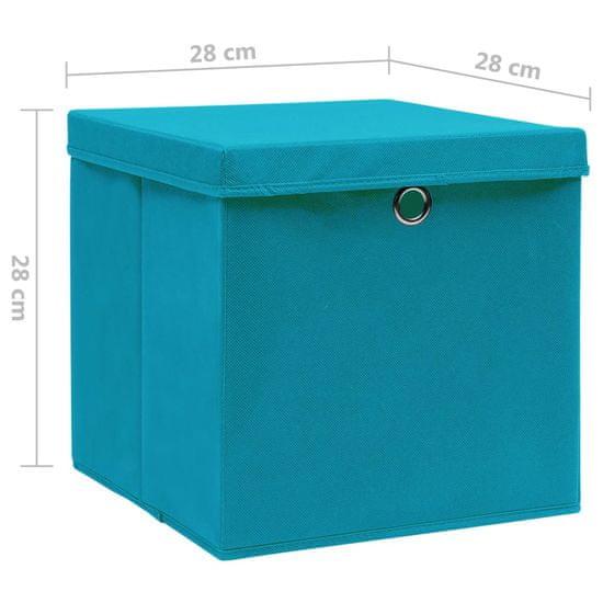 shumee Pudełka z pokrywami, 4 szt., 28x28x28 cm, błękitne