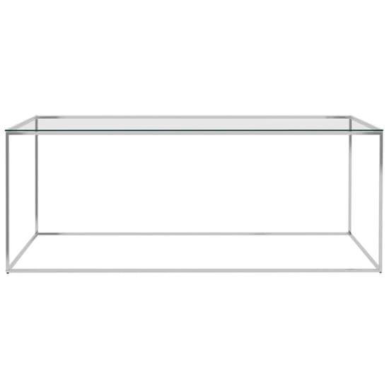 shumee ezüstszínű üveg és rozsdamentes acél dohányzóasztal 120x60x45cm