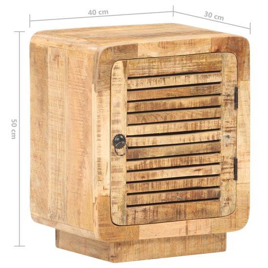 shumee nočna omarica 40x30x50 cm grob les iz manga