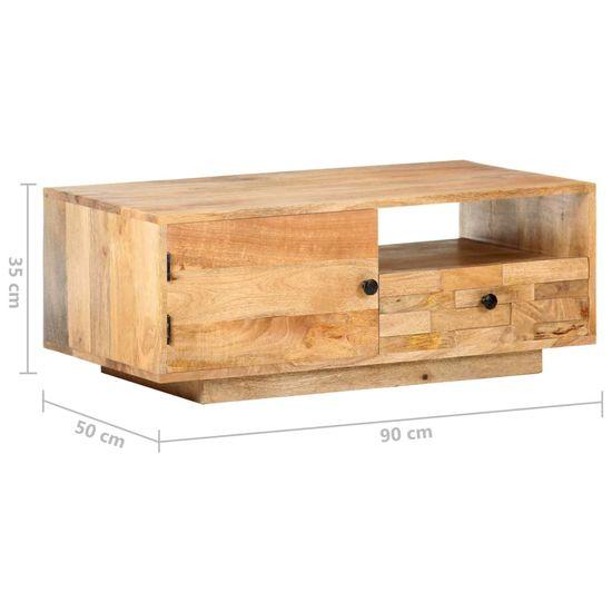 shumee kavna miza 90x50x35 cm Masivni les manga