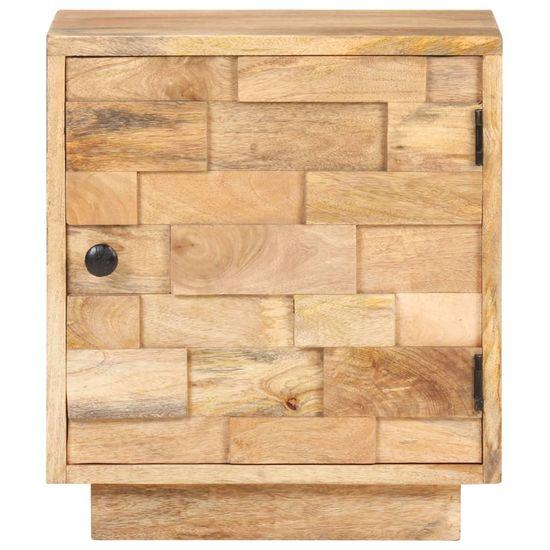 shumee nočna omarica 40x30x45 cm Masivni les iz manga
