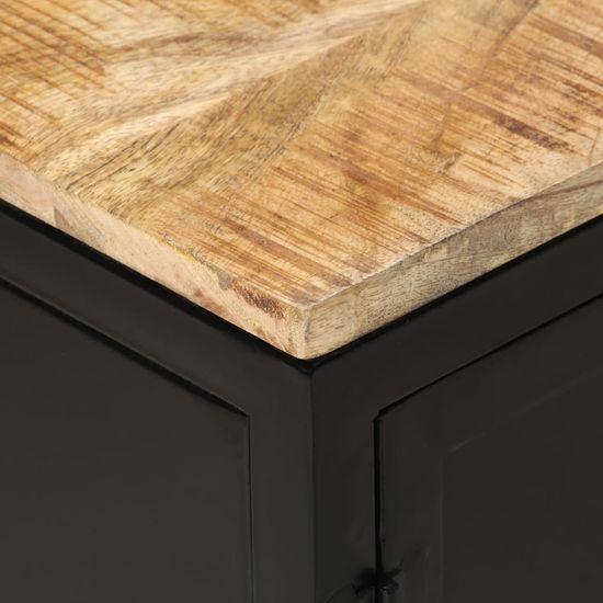 shumee Szafka pod telewizor, 120x30x40 cm, surowe drewno mango