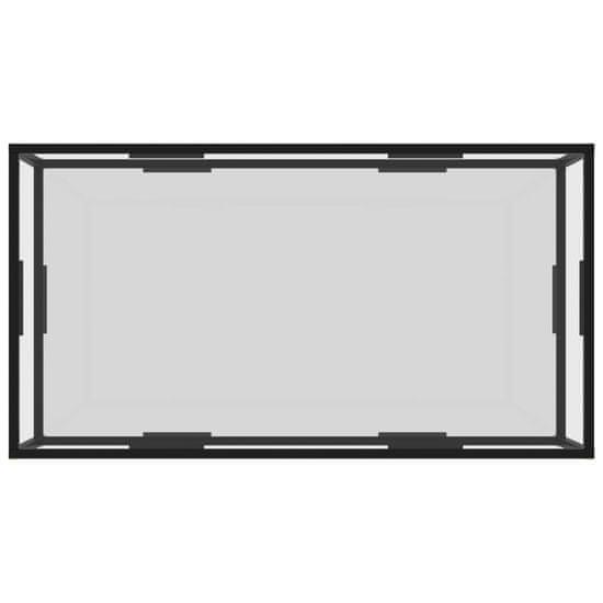shumee Čajna miza prozorno 120x60x35 cm kaljeno steklo