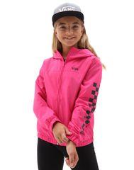 Vans dekliška pomladna jakna GR Girls Kastle Classic Windbreaker VN0A53OXFS41, M, roza