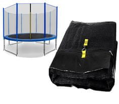 Spartan Siatka do trampoliny 460cm 15ft zewnętrzna na 10 słupków Black net / Blue