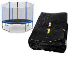 Spartan Siatka do trampoliny 305cm 10ft zewnętrzna na 8 słupków Black net / blue