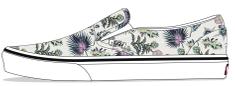 Vans dekliški slip-on teniski UY Classic Slip-On Paradise Flora VN0A4BUT30R1, 27, smetanasta