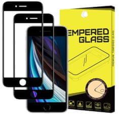 MG Full Glue Super Tough 2x ochranné sklo na iPhone 7/8/SE 2020/6/6s, čierne
