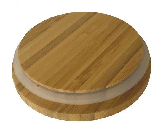 Koopman staklena posuda za pohranu, s poklopcem od bambusa, 1,3 l