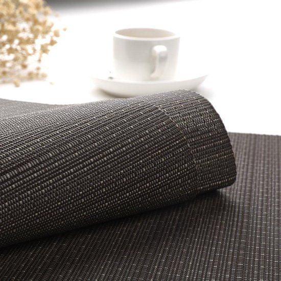 Koopman obojestranski pogrinjek, črn, 30 × 45 cm, 6 kosov