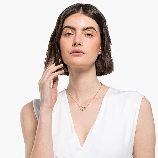 Swarovski Pozlátený náhrdelník TIME 5566227