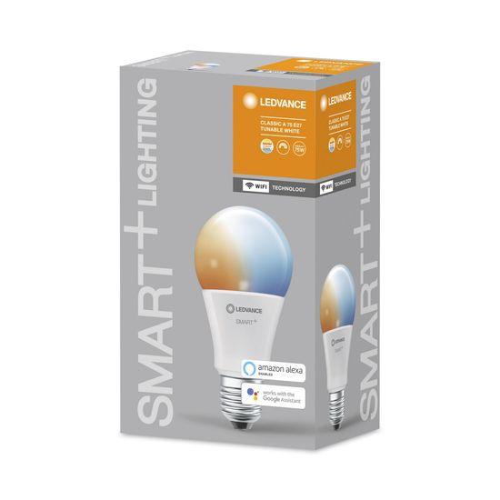 LEDVANCE pametna žarnica SMART+ WiFi Classic Tunable White 75 9.5 W/2700…6500K E27