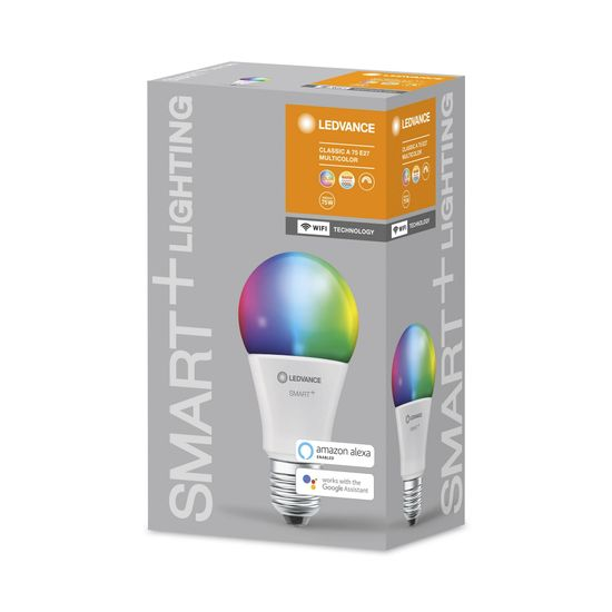 LEDVANCE pametna žarnica SMART+ WiFi Classic Multicolour 75 9.5 W/2700…6500K E27