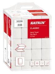 Katrin Papírové ručníky, bílá, skládané, dvouvrstvé, 20 balení