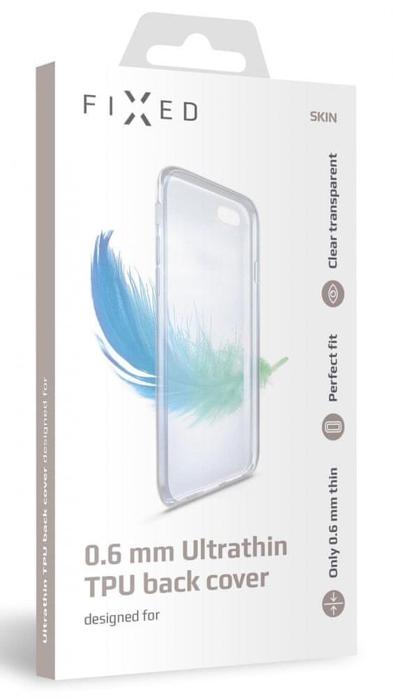 FIXED Ultratenké TPU gelové pouzdro Skin pro Samsung Galaxy S21, 0,6 mm FIXTCS-631, čiré