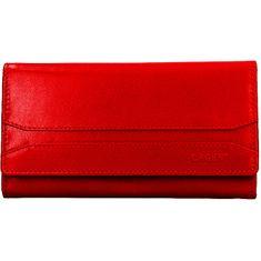 Lagen Ženska usnjena denarnica W-2025 / B Rdeča
