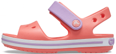 Crocs dívčí sandály Crocband 12856-6SL 24/25 lososová