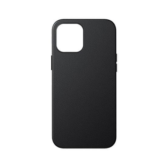 BASEUS Magnetic Leather MagSafe usnje ovitek za iPhone 12 mini, črna