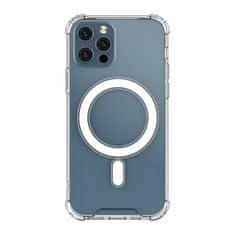 MG Magnetic MagSafe silikonski ovitek za iPhone 12 / 12 Pro, prozoren