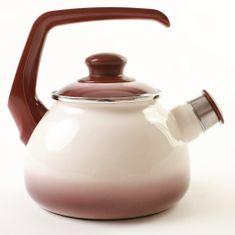 Metalac čajnik s piščalko, 1,7 l, capuccino