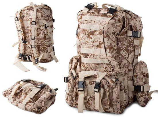 Maskirni nahrbtnik Lynx, vojaškimaskirni, 48,5 L, peščena barva T-235-MP