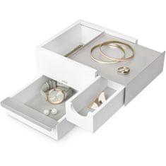Umbra Škatla za nakit STOWIT mini bela / niklja 1005314670