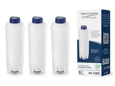Aqua Crystalis Vodní filtr AQUA CRYSTALIS AC-C002 do kávovarů značky DELONGHI - kompatibilní DELONGHI DLS C002 3ks