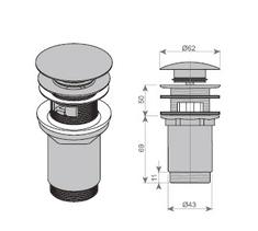 KERROCK odtokový ventil CLICK-CLACK / chrom - pro umyvadla z Kerrocku