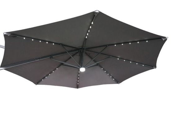 MAKERS Parasol Capri, 3 m, boczny, szary