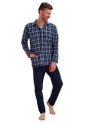TARO Pánské pyžamo Gracjan 1008/1008/788/02 : Barvy - granát (modrá), Velikosti - L