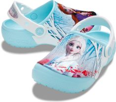 Crocs Disney Frozen 2 206167-4O9 dekliški natikači, 27/28, modri