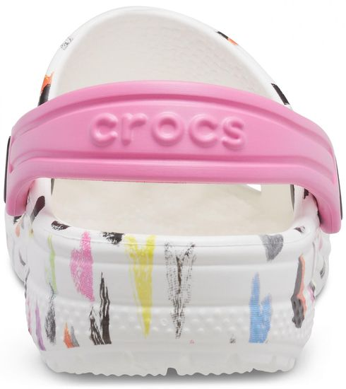 Crocs klapki dziewczęce Classic Heart Print Clog K 207000-100