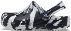 Crocs Gyermek papucs Classic Marbled Clog K 207002- 103, 24/25, fekete