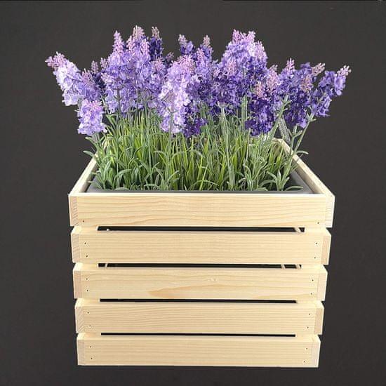 AMADEA Dřevěný obal na květináč, 32x32x24cm, dřevěný květináč