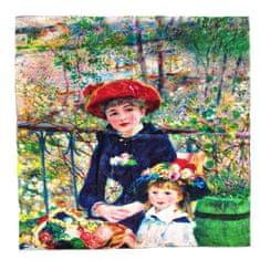 Marko-bijou Hedvábný šátek s reprodukcí obrazu od Renoira