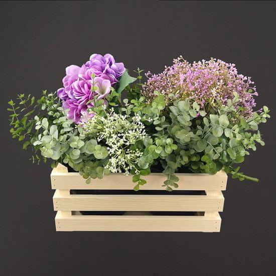 AMADEA Dřevěný obal na dva květináče, 32x17x15cm, dřevěný květináč Český výrobek