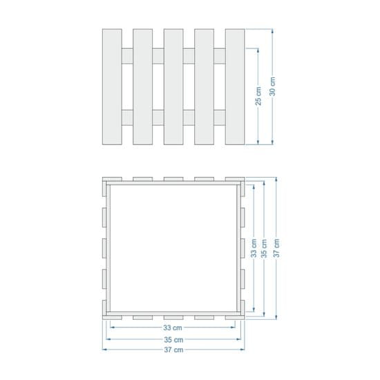 AMADEA Dřevěný obal s květináčem, 37x37x30cm Český výrobek