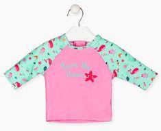 Losan dívčí tričko s UV ochranou 118-1010AL 68 růžová