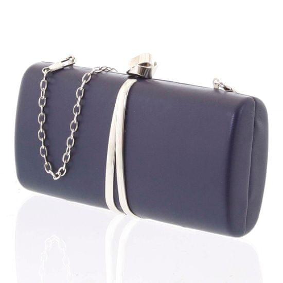Michelle Moon Luxusní malé dámské psaníčko Claudie, tmavě modré
