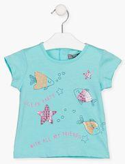 Losan dívčí tričko 118-1204AL 68 modrá