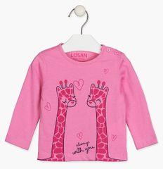 Losan dívčí tričko 118-1301AL 68 růžová