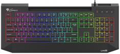 Genesis LITH 400 RGB gaming tipkovnica, X-SCISSOR, RGB, USB-HUB, Anti-Ghosting, Super Slim