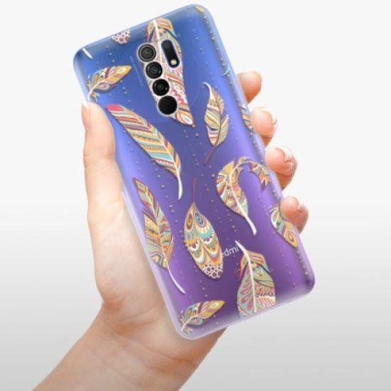 iSaprio Silikonowe etui - Feather pattern 02 na Xiaomi Redmi 9