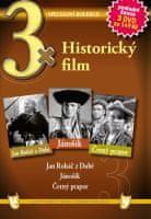 3x Historický film - Jan Roháč z Dubé, Jánošík, Černý prapor /papírové pošetky/ (3DVD) - DVD
