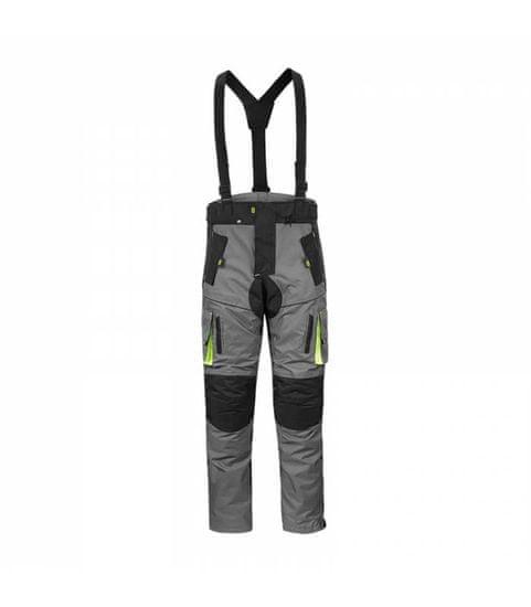 NOX PREMIUM Enduro kalhoty DISCOVERY, 4SQUARE - pánské (šedo-žluté) M